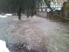 Povodeň v době rekonstukce mlýna